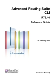 Advanced Routing Suite CLI R75.40 Reference Guide
