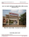 Báo cáo thực tập tốt nghiệp ở Khoa dược bệnh viện đa khoa Kon Tum