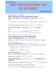 Một số dạng bài tập về số phức