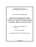 Luận văn: Kiểm tra mô hình phần mềm sử dụng lý thuyết Ôtômat Buchi và Logic thời gian tuyến tính