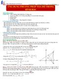 Ứng dụng phương pháp tọa độ trong hình học