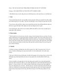 Phần I: CẤU TẠO VÀ CÁC QUÁ TRÌNH SỐNG CƠ BẢN CỦA CÁC CƠ THỂ SỐNG