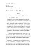 Bài thu hoạch môn an sinh xã hội đề tài : tìm hiểu phân tích một vấn đề về an sinh