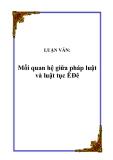 LUẬN VĂN:  Mối quan hệ giữa pháp luật và luật tục ÊĐê