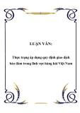 Luận văn tốt nghiệp: Thực trạng áp dụng quy định giao dịch bảo đảm trong lĩnh vực hàng hải Việt Nam