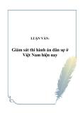 Luận văn: Giám sát thi hành án dân sự ở Việt Nam hiện nay