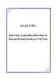Luận văn về: Thực trạng và giải pháp nhằm nâng cao hiểu quả thi hành án dân sự ở Việt Nam