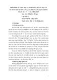 BÁO CÁO KHOA HỌC: PHÂN TÍCH SỰ KHÁC BIỆT VỀ NGHĨA CỦA TỪ HÁN VIỆT VÀ TỪ TIẾNG HÁN TƯƠNG ỨNG CÙNG NHỮNG ỨNG DỤNG TRONG GIẢNG DẠY TỪ VỰNG TIẾNG HÁN