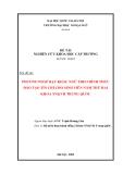 LUẬN VĂN:  PHƯƠNG PHÁP DẠY KHẨU NGỮ THEO HÌNH THỨC ĐÀO TẠO TÍN CHỈ CHO SINH VIÊN NĂM THỨ HAI KHOA NN&VH TRUNG QUỐC