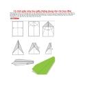 12 cách gấp máy bay giấy thông dụng cho các bạn đây!