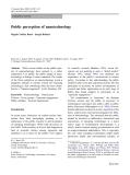 Public perception of nanotechnology