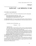 Điều khiển PLC - Chương 5: Ngôn ng l p trình PLC S7-200