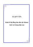 LUẬN VĂN:  Kinh tế hộ đồng bào dân tộc Khmer tỉnh An Giang hiện nay