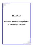 LUẬN VĂN:  Kiểm toán Nhà nước trong nền kinh tế thị trường ở Việt Nam