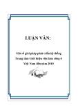 LUẬN VĂN:  Một số giải pháp phát triển hệ thống Trung tâm Giới thiệu việc làm công ở Việt Nam đến năm 2010