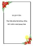 LUẬN VĂN:  Thực hiện pháp luật phòng, chống HIV/AIDS ở tỉnh Quảng Ninh