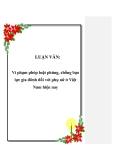 LUẬN VĂN: Vi phạm pháp luật phòng, chống bạo lực gia đình đối với phụ nữ ở Việt Nam hiện nay