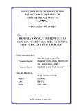 Đề tài:  ĐÁNH GIÁ NĂNG LỰC NGHIÊN CỨU CỦA CÁ NHÂN, TỔ CHỨC DỰA TRÊN PHÂN TÍCH, TÍNH TOÁN CÁC CHỈ SỐ KHOA HỌC
