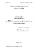 ĐỀ BÀI: TÌM HIỂU ĐÌNH LÀNG BA THÔN KIM CỐC VÀ NHỮNG GIÁ TRỊ VĂN HÓA LỄ HỘI BA THÔN