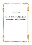 LUẬN VĂN:  Khảo sát chỉnh thể nghệ thuật trào phúng trong Chèo truyền thống