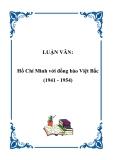 LUẬN VĂN:Hồ Chí Minh với đồng bào Việt Bắc (1941 - 1954)