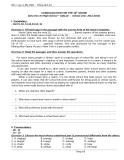 CONSOLIDATION FOR THE 10th GRADE (Chu Van An High School – DakLak  -  School year: 2011-1012)
