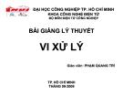 Bài giảng lý thuyết vi xử lý  - Chương 3: Lập trình hợp ngữ cho 8051(tiếp theo)