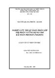 Luận văn:Nghiên cứu thuật toán phân lớp nhị phân và ứng dụng cho bài toán protein folding