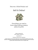 discover a niche and sell it online