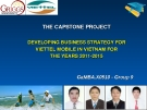 CAPSTONE PROJECT REPORT DEVELOPING THE BUSINESS STRATEGY FOR VIETTEL MOBILE IN VIETNAM FOR THE YEARS 2011-2015 by Trương Trung Nghĩa