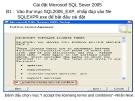 Cài đặt Microsotf SQL Sever 2005