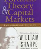 Capital Markets and Portfolio Theory