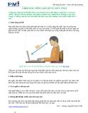 Giảm đau lưng khi dùng máy vi tính