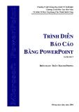 Tài liệu về trình diễn power point