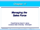 Chapter 17: Managing the Sales Force