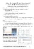 Hướng dẫn cài đặt phần mềm V.EMIS Version 1.2.0 trong hệ điều hành Windows 7 ( 32 BIT)