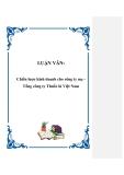 LUẬN VĂN: Chiến lược kinh doanh cho công ty mẹ Tổng công ty Thuốc lá Việt Nam