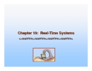 Operating System Concepts - Chapter 19: Real-Time Systems