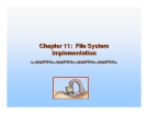 Operating System Concepts - Chapter 11: File System Implementation