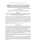 Báo cáo khoa học : ĐÁNH GIÁ NĂNG SUẤT SINH SẢN CỦA LỢN NÁI THUẦN LANDRACE (L) YORKSHIRE (Y) , NÁI LAI F1 (LY/YL) , NÁI VCN22 VÀ KHẢ NĂNG SINH TRƯỞNG, CHO THỊT CỦA LỢN THƯƠNG PHẨM HAI, BA VÀ BỐN GIỐNG TRONG ĐIỀU KIỆN CHĂN NUÔI TRANG TRẠI TẠI QUẢNG BÌNH