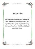 LUẬN VĂN: Vận dụng một số phương pháp thống kê để phân tích kết quả hoạt động tài chính của ngân hàng nông nghiệp và phát triển nông thôn huyện Nam Trực – Tỉnh Nam Định giai đoạn 2000 – 2004