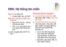 Chương 7 DNS: Hệ thống tên miền