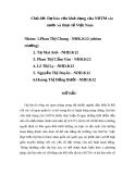 Tiểu luận: Dự báo vốn khả dụng của NTTM các nước và thực tế Việt Nam