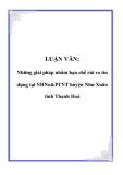 LUẬN VĂN: Những giải pháp nhằm hạn chế rủi ro tín dụng tại NHNo&PTNT huyện Như Xuân tỉnh Thanh Hoá