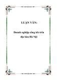 Luận văn tốt nghiệp:  Doanh nghiệp công ích trên địa bàn Hà Nội