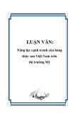 LUẬN VĂN: Năng lực cạnh tranh của hàng thủy sản Việt Nam trên thị trường Mỹ