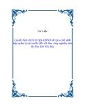 BAN HÀNH QUY CHẾ PHỐI HỢP QUẢN LÝ NHÀ NƯỚC ĐỐI VỚI CÁC KHU CÔNG NGHIỆP TRÊN ĐỊA BÀN TỈNH YÊN BÁI