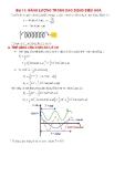 Bài 11: Năng lượng trong giao động điều hòa