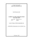 Luận văn Thạc sĩ Công nghệ thông tin: Nghiên cứu một số phương pháp phát hiện biên