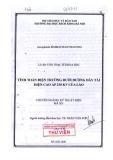 Luận văn thạc sĩ: Tính toán điện trường dưới đường dây tải điện cao áp 230kV của Lào.